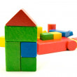 Colorful wooden building blocks — Stock Photo #3686919