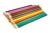 Pile of multicolored pencils — Foto Stock
