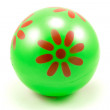 Green rubber ball — Stock Photo