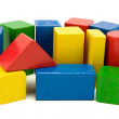 Colored wooden blocks — Stock Photo