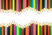 Assortment of coloured pencils — Stock Photo