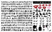 Collectie van silhouetten van — Stockvector