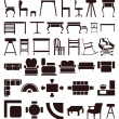 Furniture icons — Vektorgrafik