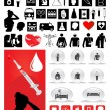 Collection of medical icons — Vector de stock #3281026