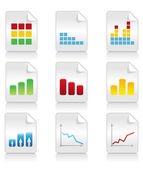 Icons of schedules2 — Stock Vector