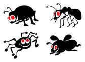 Ridiculous insects — Stock Vector