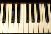 Farbige pinalte klaviertasten — Stockfoto