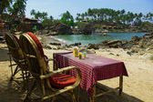Two Chairs at the beautiful Goa beach — Stock Photo
