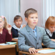Cute Pupils on real lesson — Stock Photo