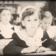 Old style photo from elementary age - Foto de Stock  