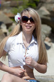 Cute girl in summer style — Стоковое фото