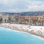 France, Nice, Blue beach — Stock Photo #3308821