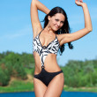 Girl with perfect body on the lake — Stock Photo #3308931