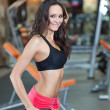 Girl in fitness hall — Stock Photo #3648834