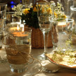 Table setting with candles — Foto de Stock