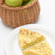 Apple pie and a basket - Foto de Stock
