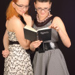 Two girls in dresses — Stock Photo