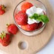 Royalty-Free Stock Photo: Strawberries with whipped cream