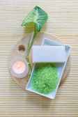 Green aromatic salt — Stock Photo