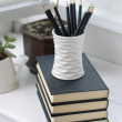 Books, flowers and pencils — Stock Photo