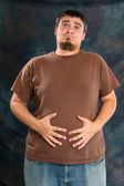 Bloated Overweight Man — Stock Photo