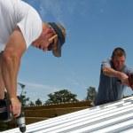 Construction Roofing Crew — Stock Photo