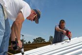 Construction Roofing Crew — Stock Photo