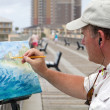 Artist Painting — Stock Photo