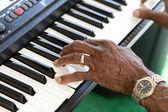 игрок клавиатуры — Стоковое фото