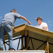 Stock Photo: Roofing Construction Workers