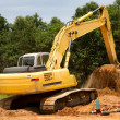 Stock Photo: Backhoe Earthmover