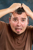 Extremely Frustrated Man — Stock Photo
