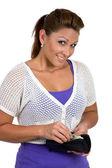 Happy Woman Shopper — Stock Photo