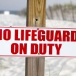 No Lifeguard On Duty — Stok fotoğraf