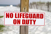 No Lifeguard On Duty — Stock Photo