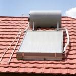 Solar Water Heater — Stock Photo