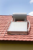 Calentador de agua solar — Foto de Stock