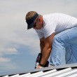 Roof Construction Worker — Stock Photo