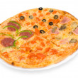 Pizza four in one, clipping path — Stock Photo