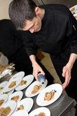 Chef at work — Stockfoto