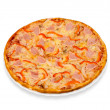 Pizza with bacon and paprika — Stock Photo