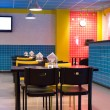 Restaurant interior in pop art style — Stock Photo