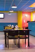 Restaurant interior in pop art style — Stock Photo
