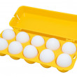 Eggs, clipping path — Stock Photo