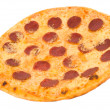Pizza with pepperoni — Stock Photo