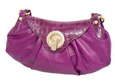 Violet ladies handbag — Stock Photo