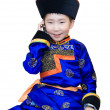 Mongol boy with cell phone - Stock Photo