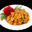 Chinese food. Sweet pork, clipping path. — Stock Photo
