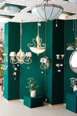 Lamps at store — Stock Photo
