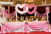 Wedding banquet table — Stock Photo